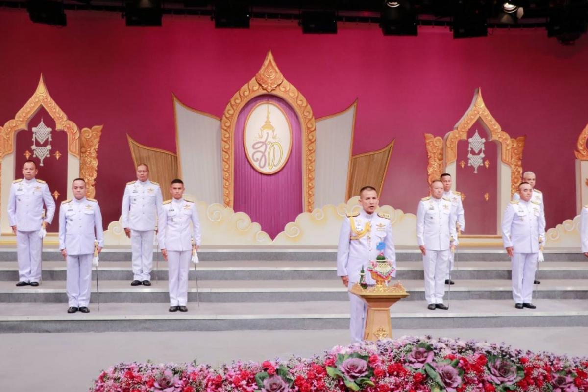 พล.ต.ท.วิชิต ปักษา ผบช.ตชด. พร้อมคณะผู้บังคับบัญชา ร่วมบันทึกเทปถวายพระพรสมเด็จพระนางเจ้าฯ พระบรมราชินี เนื่องในโอกาสวันคล้ายวันเฉลิมพระชนมพรรษา (3 มิถุนายน) ณ สถานีวิทยุโทรทัศน์กองทัพบก (ททบ.5)